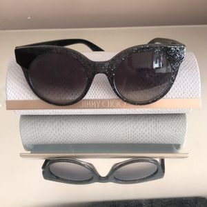 Jimmy Choo Authentic sunglasses , case, new